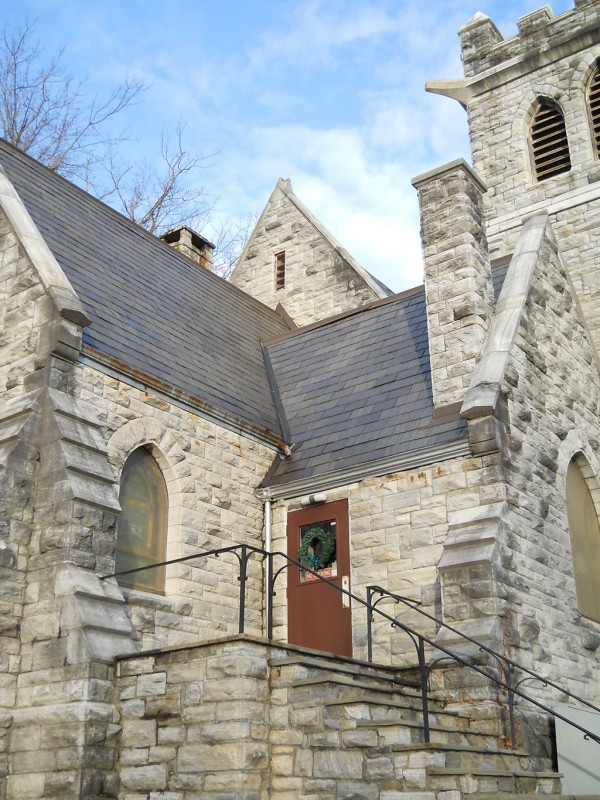 A view of the entranceway/landing of St. Peter's looking northeast.