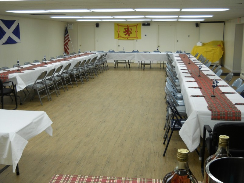 St. Peter's Fellowship Hall (a view from the entranceway towards the back of the hall). The kitchen is behind us.
